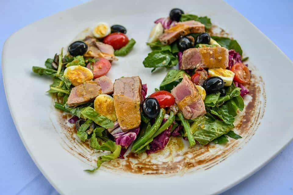 nusa dua restaurants | nusa dua beach grill | CONFIT TUNA SALAD