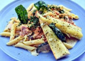 nusa dua italian restaurants | nusa dua beach grill | penne salmon