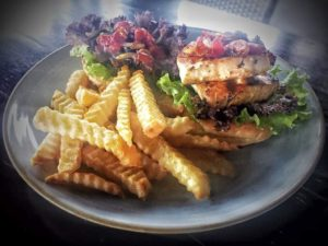nusa dua restaurants | Mahi-mahi burger with Fried Chilli Salsa