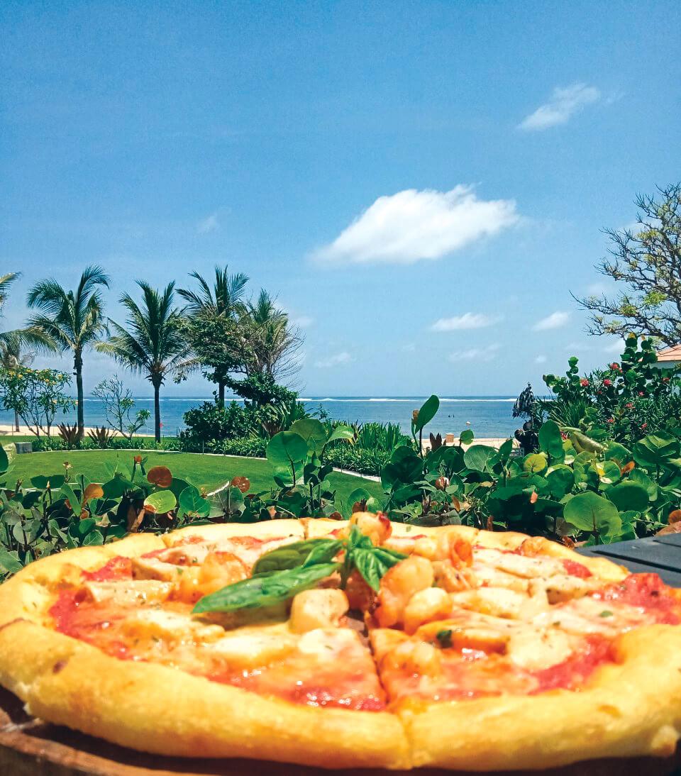 seafood pizza |nusa dua restaurants | nusa dua beach grill