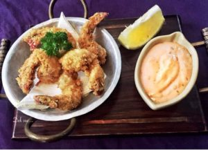 nusa dua restaurants | golden fried prawns